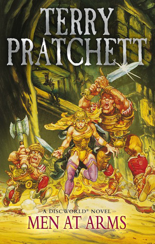 Link to Wikipedia article on Terry Pratchett's Men at Arms