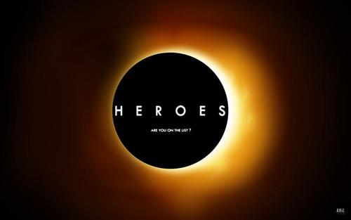 "Logo for  the TV series ""Heroes,""  which engraved the phrase ""save the world"" into my brain."