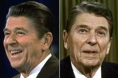 Reagan before his presidency … . Reagan after his presidency