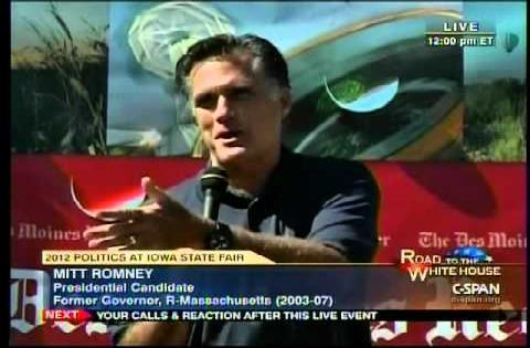 "Video of Mitt Romney saying ""Corporations are people"""