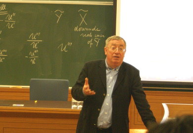 Louis Eeckhoudt (picture from when he visited National Chengchi University)