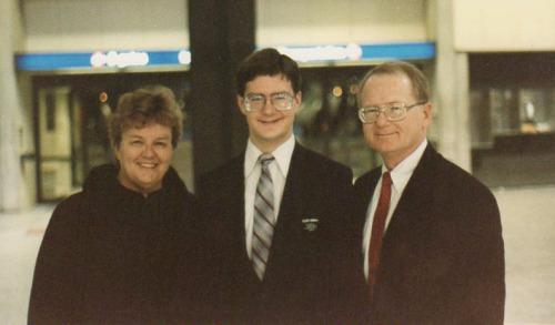 Bee Kimball, Joseph Kimball and Edward Kimball, in 1988
