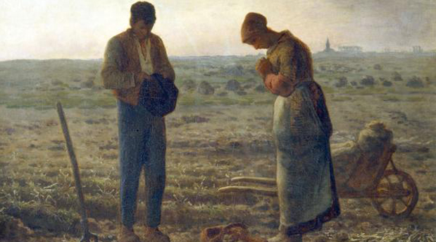 "Link to the Wikipedia page for this painting: ""The Angelus,"" by Jean-François Millet Hat tip to this website"