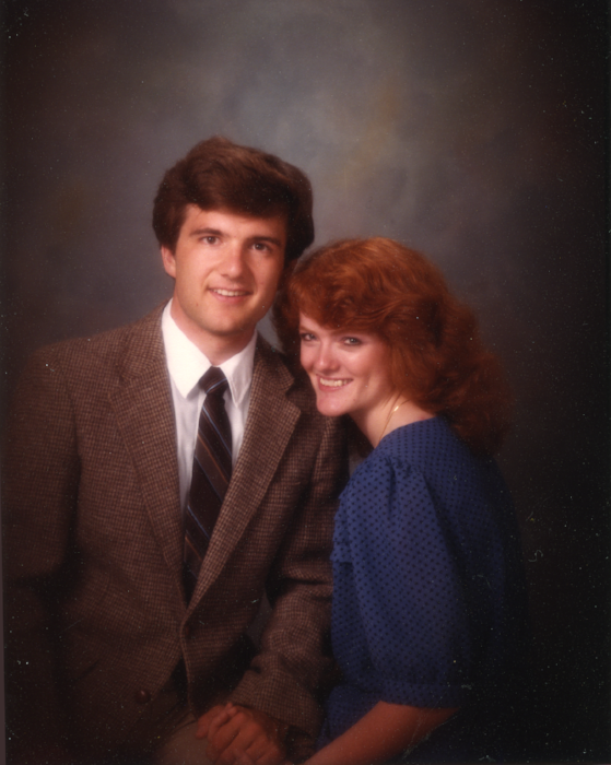 Miles and Gail in 1984 (engagement photo)
