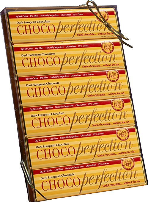Link to the Amazon site for ChocoPerfection bars