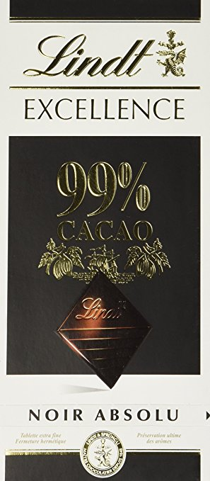 Link to the Amazon site for Lindt 99% Noir Absolu Bars