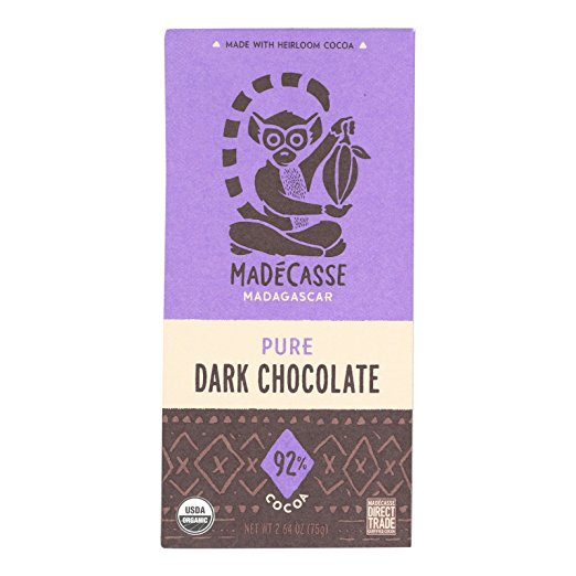 Link to the Amazon site for Madecasse Pure Dark Chocolate
