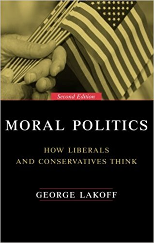 Link to the Amazon page for  Moral Politics  by George Lakoff