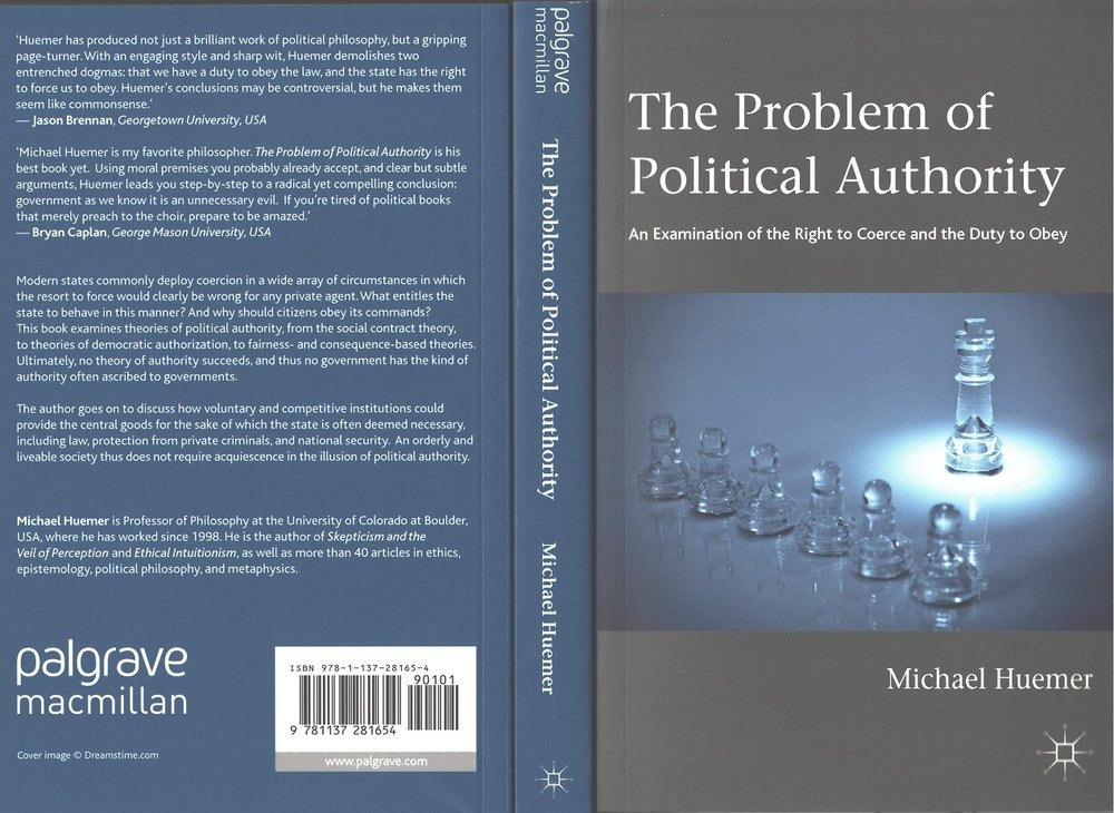 Link to the Amazon page for  The Problem of Political Authority  by Michael Huemer