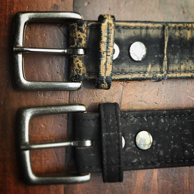 Wow... check out this 4 year old Cliff belt. The customer wore it everyday since he got it.. Love the way it aged!! But never the less, time for a fresh belt! 😉 #cork #corkfashion #bryantpark #nyc #newyorkstyle #bryantparkwintervillage #madeinny #veganstyle #vegan #veganfashion #veganstyle #madeinneusa #madeinamerica