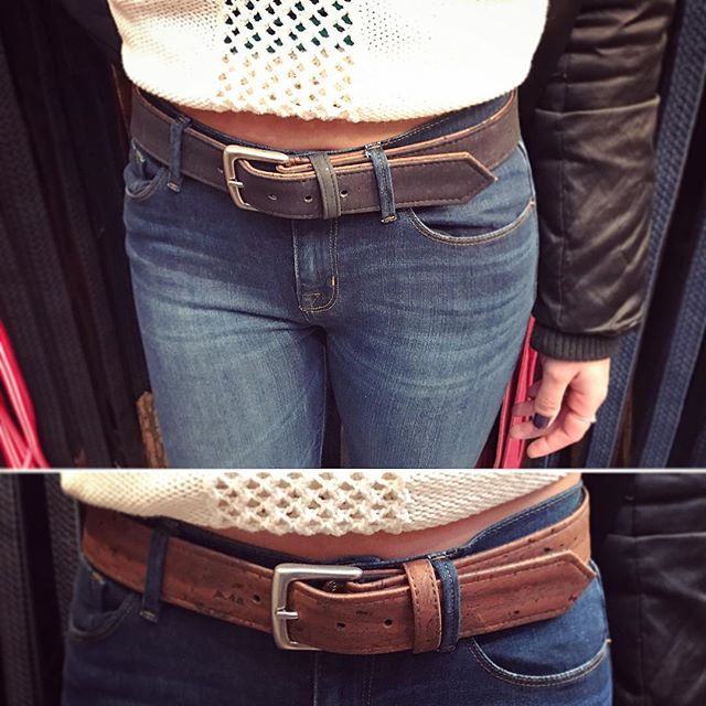 Steal your boyfriend's Cliff belt reversible for a sexy casual look. 😏#corkbelt #veganshop #veganstyle #veganfashion #madeinnyc #madeinamerica #nystyle #bryantparkwintervillage #bryantpark #holidayshop @kristie_fitness