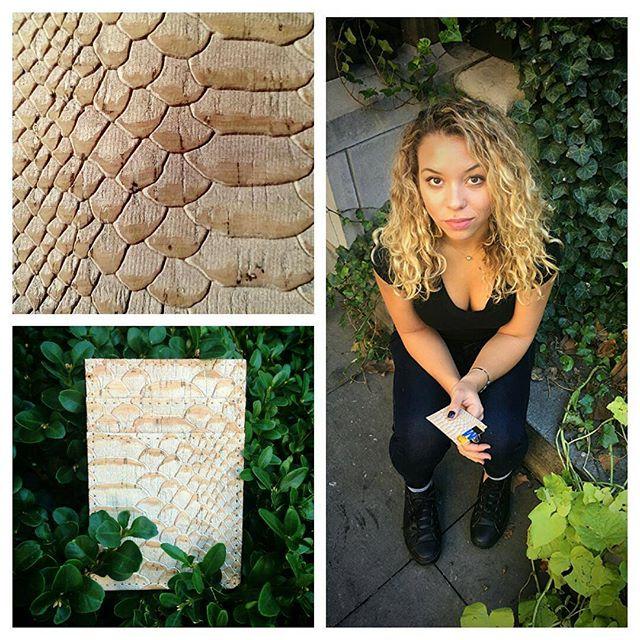 Kristie with her new white snake inspired vertical wallet 😘 @kristie_fitness #veganfashion #madeinnyc #veganlife #madeinamerica #bryantparkwintervillage #bryantpark  Www.cliffbelts.com