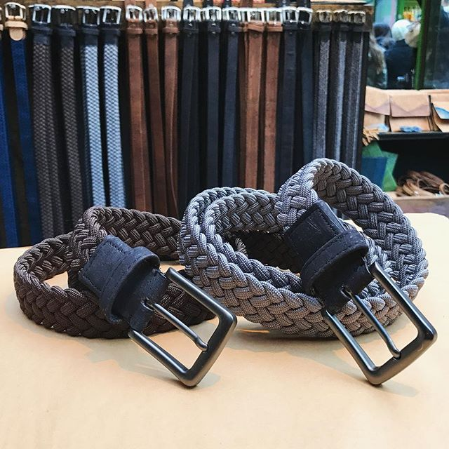 """The """"man braid"""" belt is in! Come on over to Bryant park and try one on. #madeinnycc #madeinny #vegan #veganlifestyle #madeinamerica #guygift #sustainablefashion #bryantparkwintervillage #bryantpark #nycstyle"""
