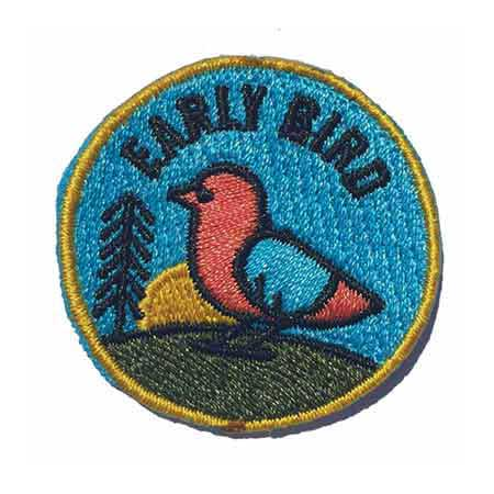 Early Bird Merit Patch - The Early Bird Patch is only given out in limited quantities at the start of a fresh product drop. Just like the name implies, you gotta get your Stratis socks early if you want to catch this worm.