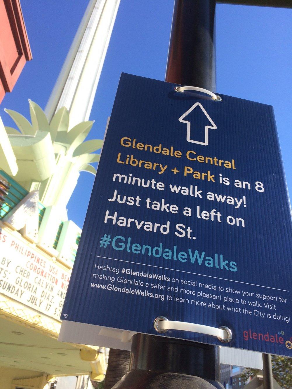 Temporary Pedestrian Wayfinding Signage (Glendale, CA)