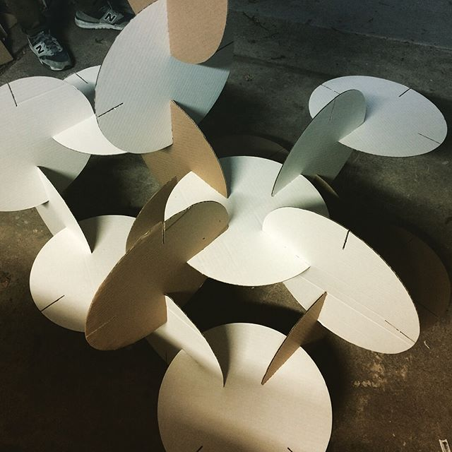 Here's a quick sneak peak into the Here LA workshop. We are testing materials and methods for an upcoming interactive installation. Remember Crystal Stackers? We're building life-sized pieces that can stack together, link, build, tell stories. More to follow. #tacticalurbanism #communitystories #buildingandtesting #workshop #funcity #buildingcommunities #herela