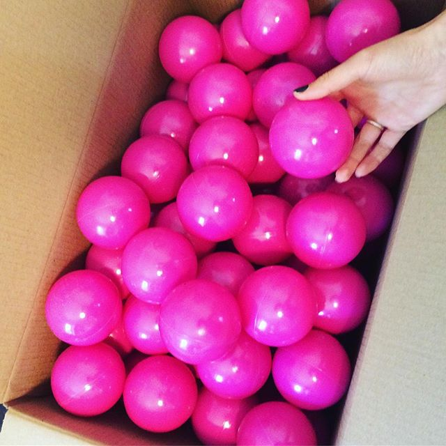 What is Here LA doing with all these balls?  Our studio is filled with hundreds and hundreds of these puppies! No, we aren't making a giant ball pit unfortunately. We are planning a pop-up for the Half Way There Celebration for the Regional Connector on May 19 in Little Tokyo. #rainbowballs #popupurbanism #urbandesign #firstlastmile
