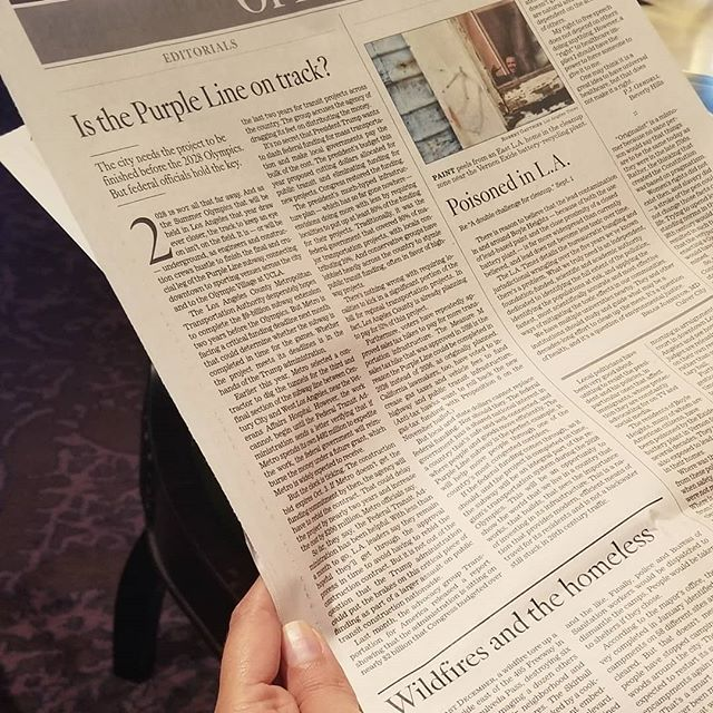 Reading up on the LA Times' opinion about the #purpleline. We hope the FTA funding comes through for this important project. Here LA is beginning work on the Purple Line project this fall! . . . . . . . . . #urbandesign #firstlastmile #design #planning #lametro #purplelineextension