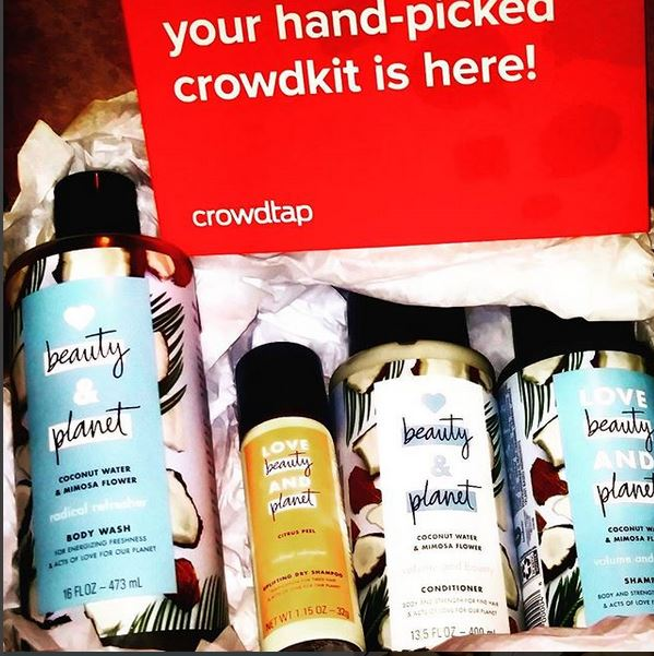 crowdtap and other word of mouth marketing in exchange for full size product fun social media shares and reviews