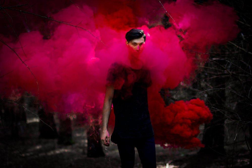 SMOKE BOMB PHOTO SHOOT