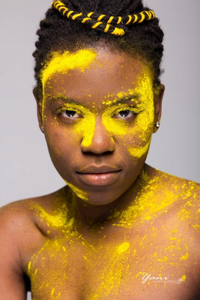Colour powder creative portrait photoshoot