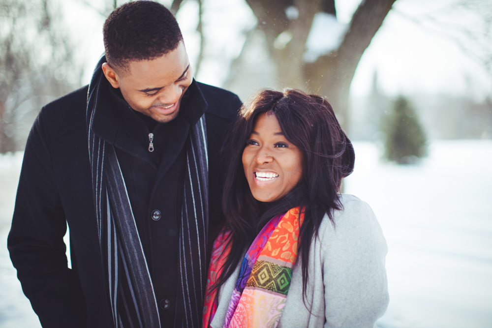Winter engagement photography university of guelph