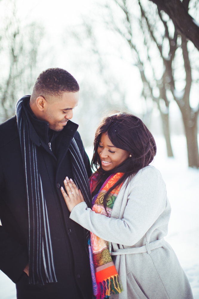 Winter engagement and wedding photography university of guelph