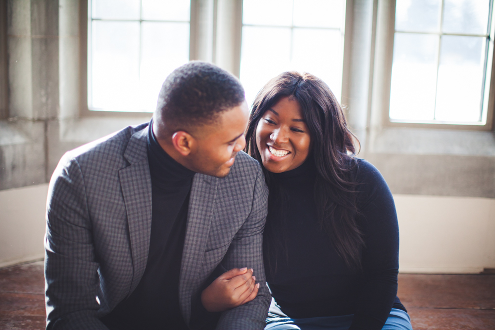Winter engagement and nigerian wedding photography university of guelph