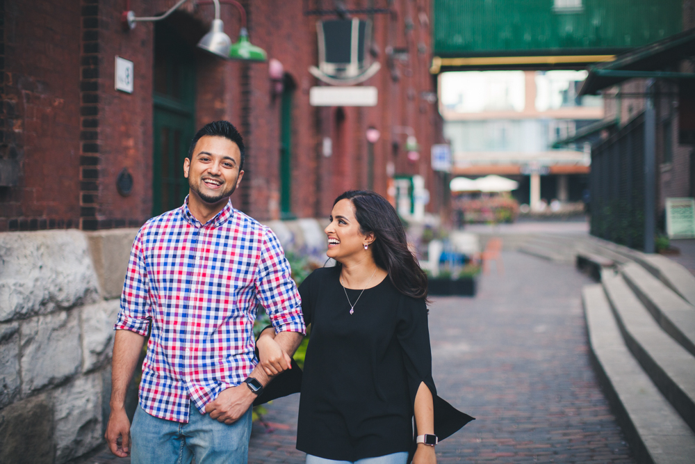 Distillery district Toronto engagement wedding photography