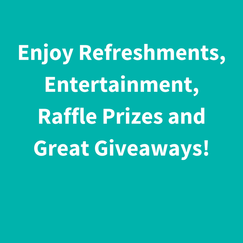 Dive Into Thrive Refreshments, Entertainment, Raffle Prizes and Great giveaways!.png