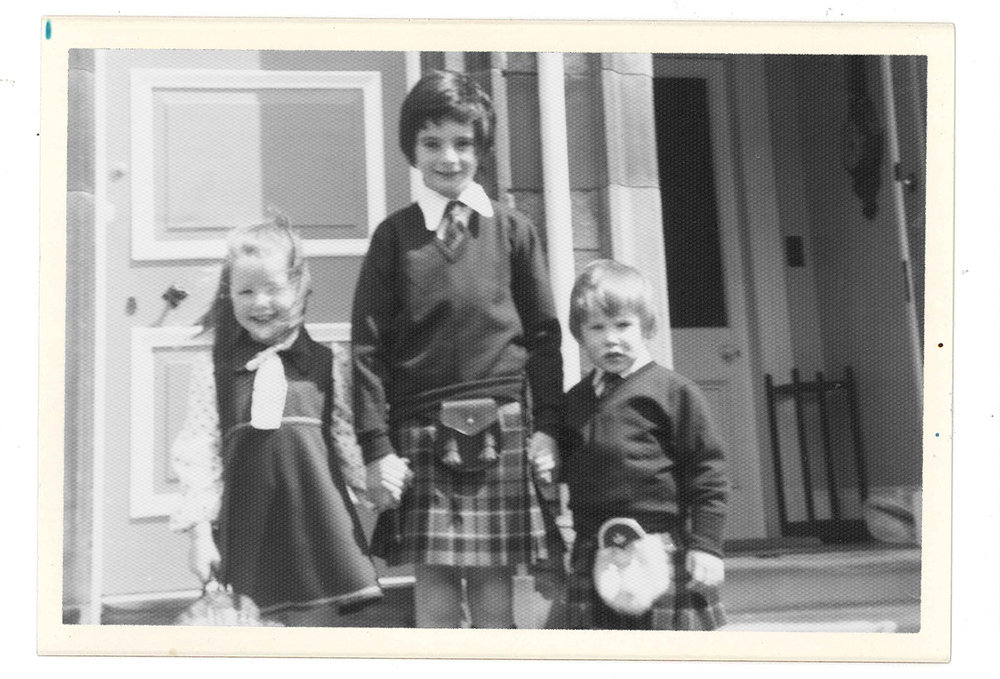 This is me and my brothers, Sean & Ed, about to head off to a posh family wedding. A huge sporran and a positively weeny kilt.
