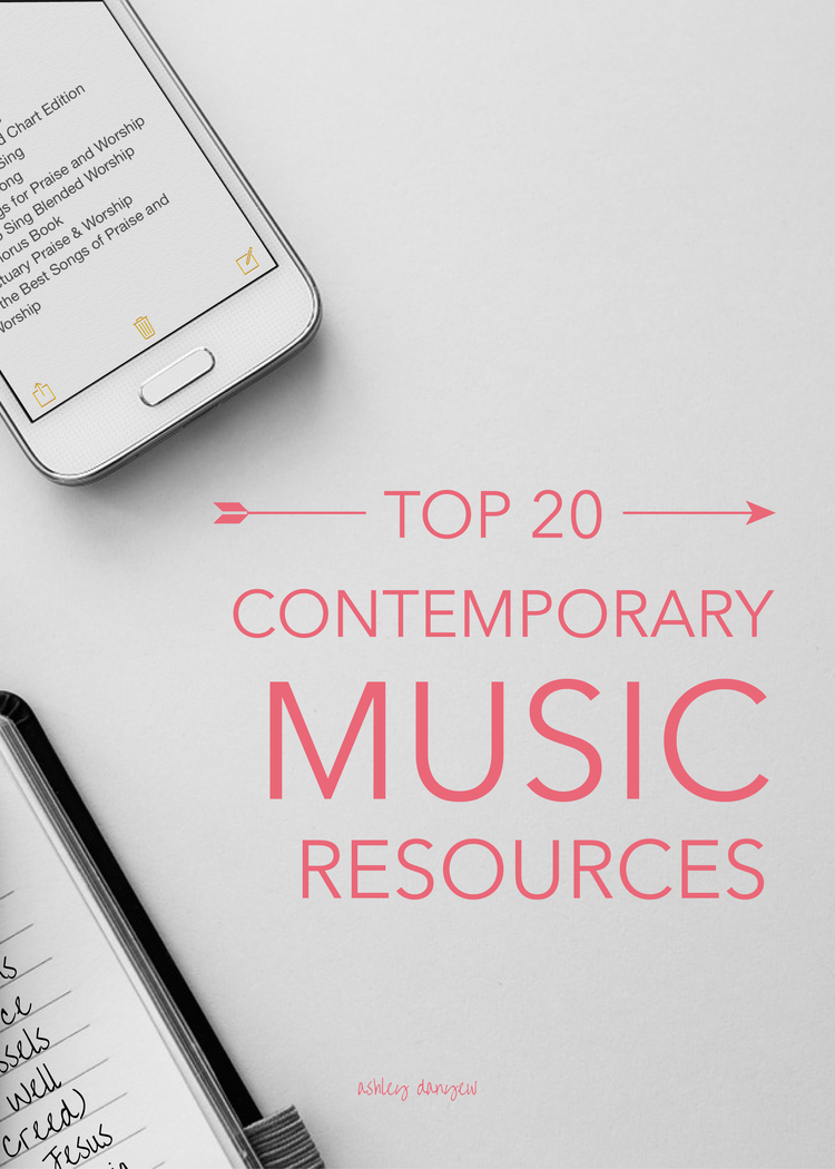 Top 20 Contemporary Music Resources | Ashley Danyew