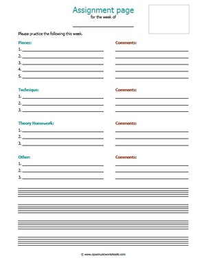 cna assignment sheet template