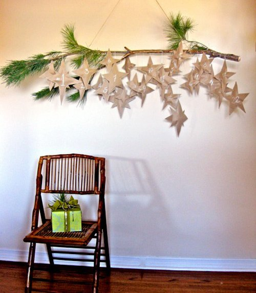 DIY Falling Star Advent Calendar (Design Sponge) | My Favorite Advent Calendars - Ashley Danyew