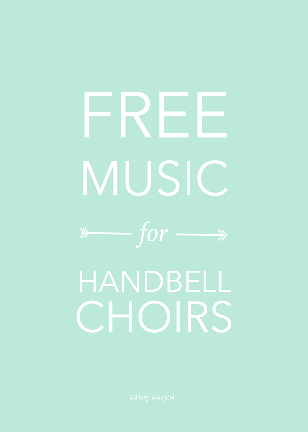 Free music resources for handbell choirs | @ashleydanyew