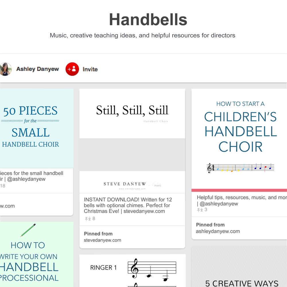 My favorite Pinterest boards for handbells | @ashleydanyew
