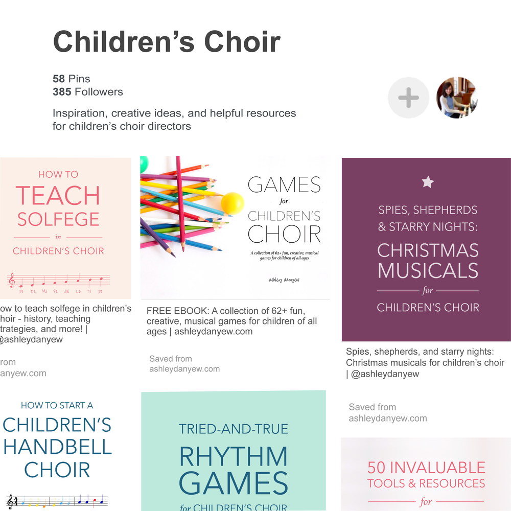 My Favorite Pinterest Boards for Children's Choir | @ashleydanyew