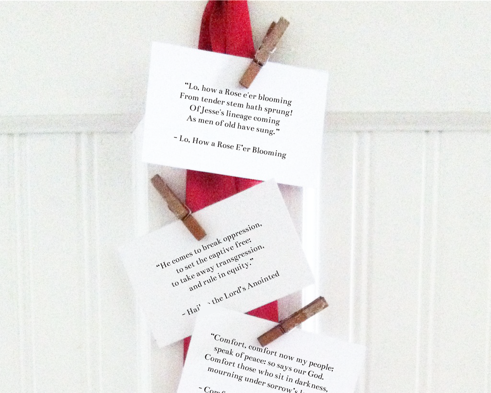 Doxology Press Hymn Advent Calendar | doxologypress.etsy.com