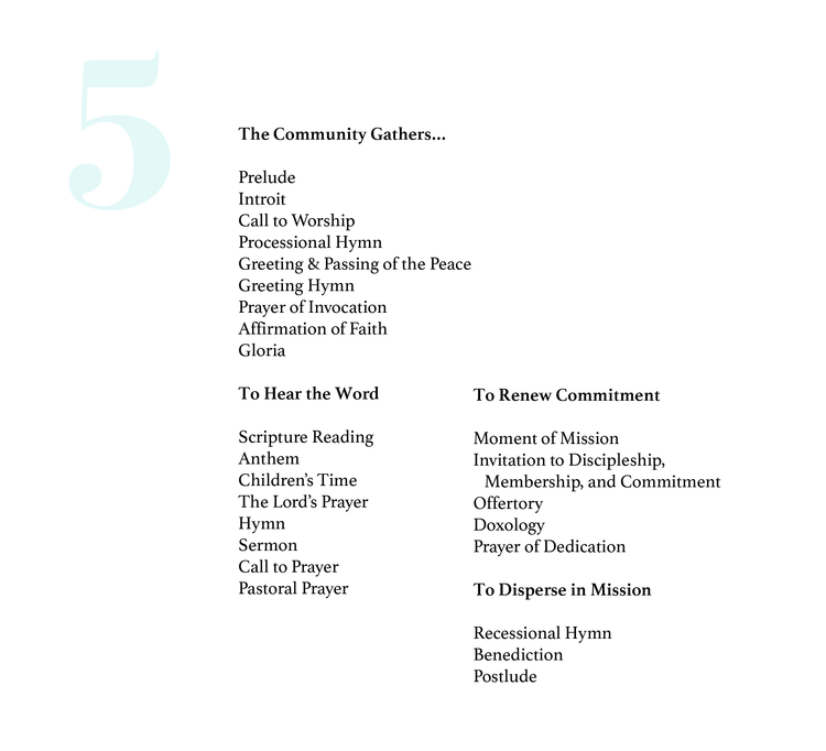 5 Creative Worship Order Templates
