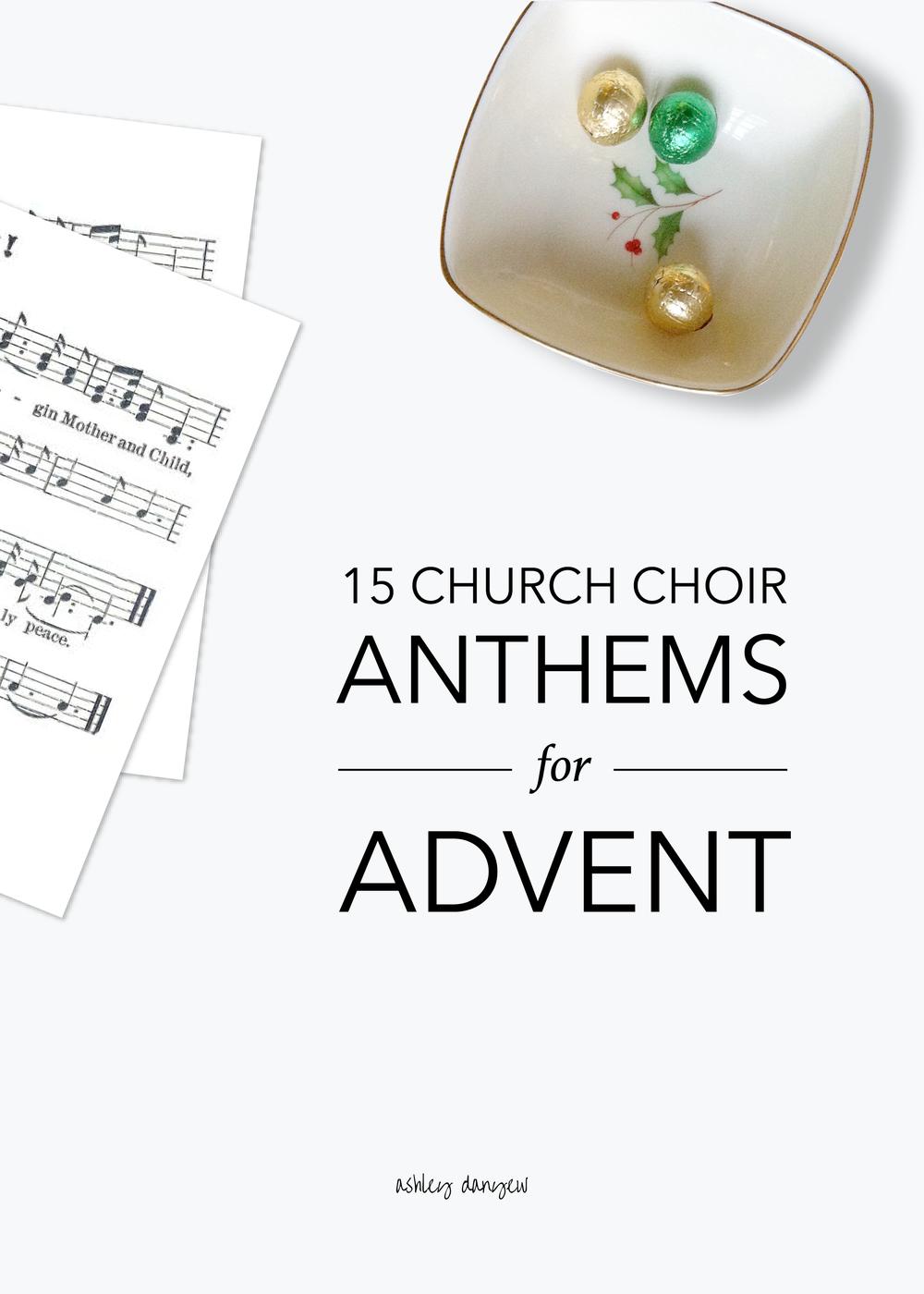 Copy of 15 Church Choir Anthems for Advent