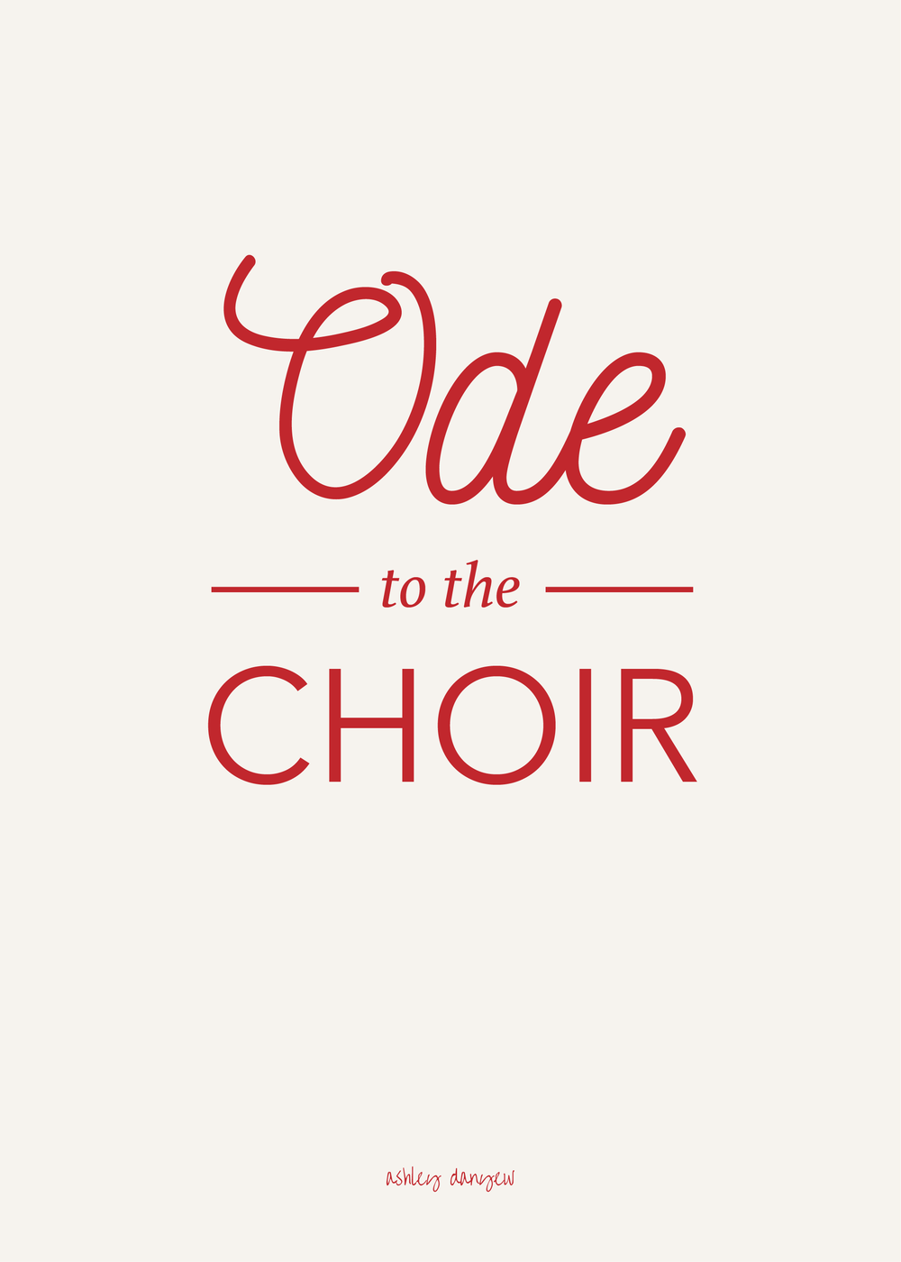 Copy of Ode to the Choir