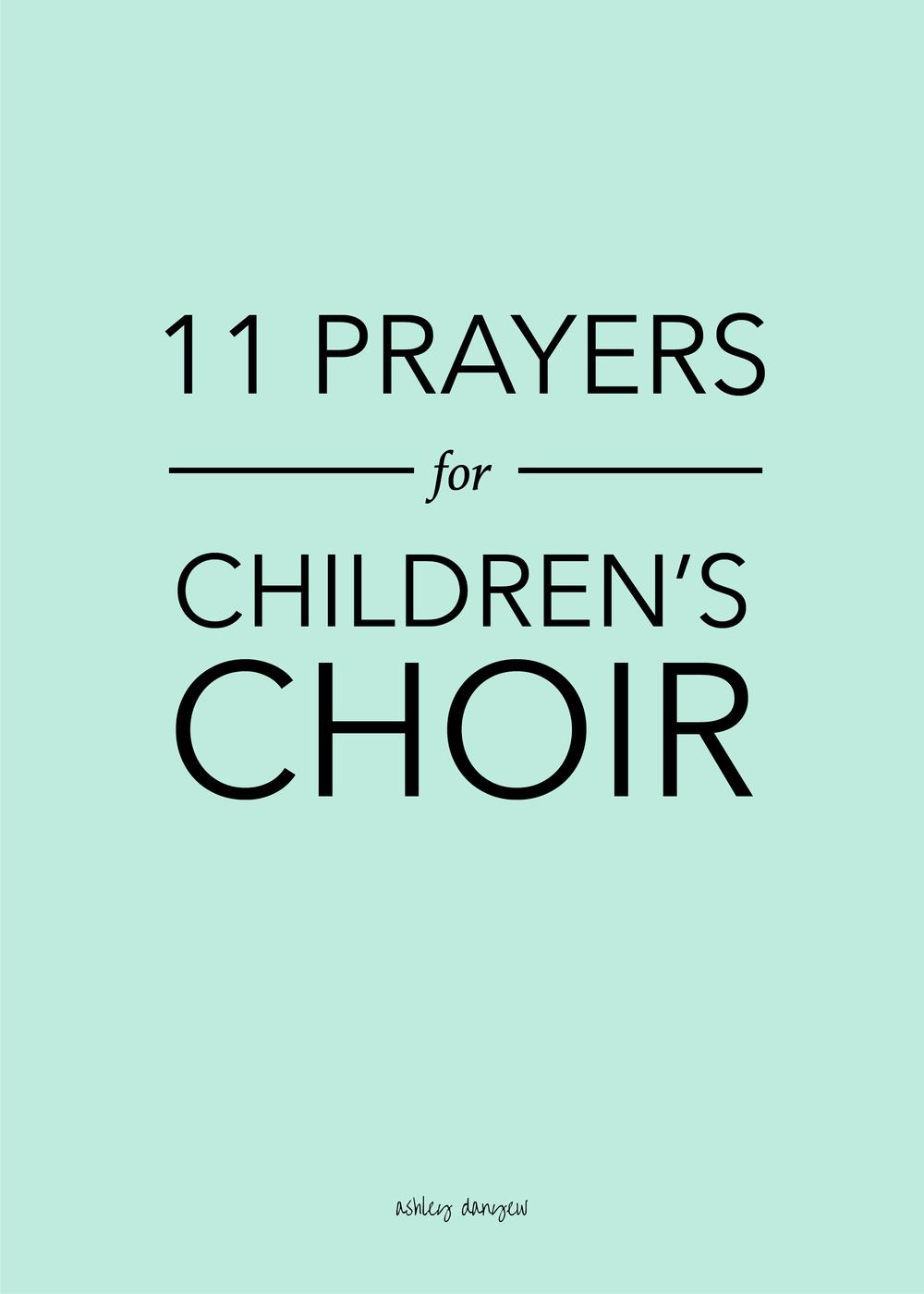 Copy of 11 Prayers for Children's Choir