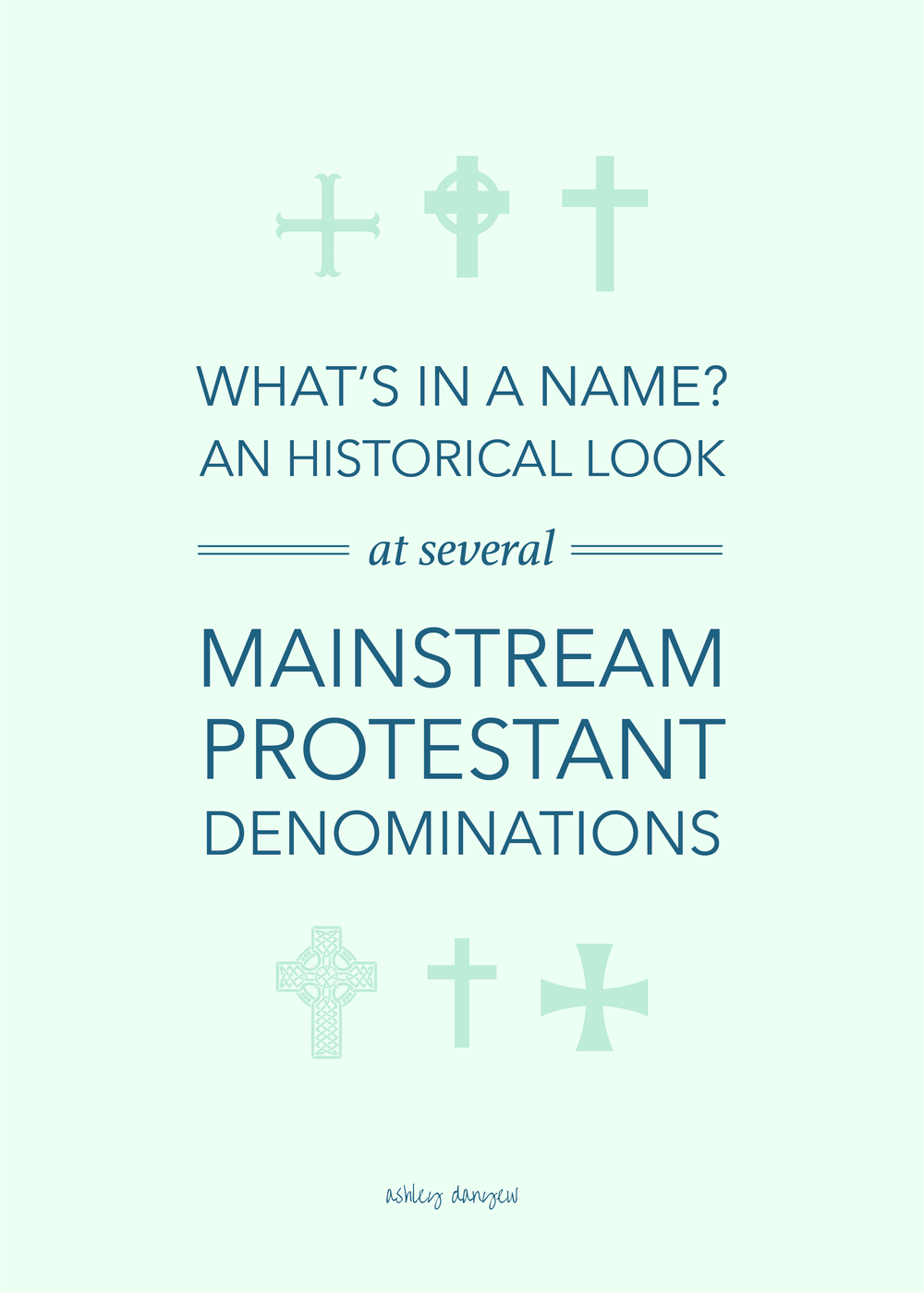 Copy of What's in a Name? An Historical Look at Several Mainstream Protestant Denominations