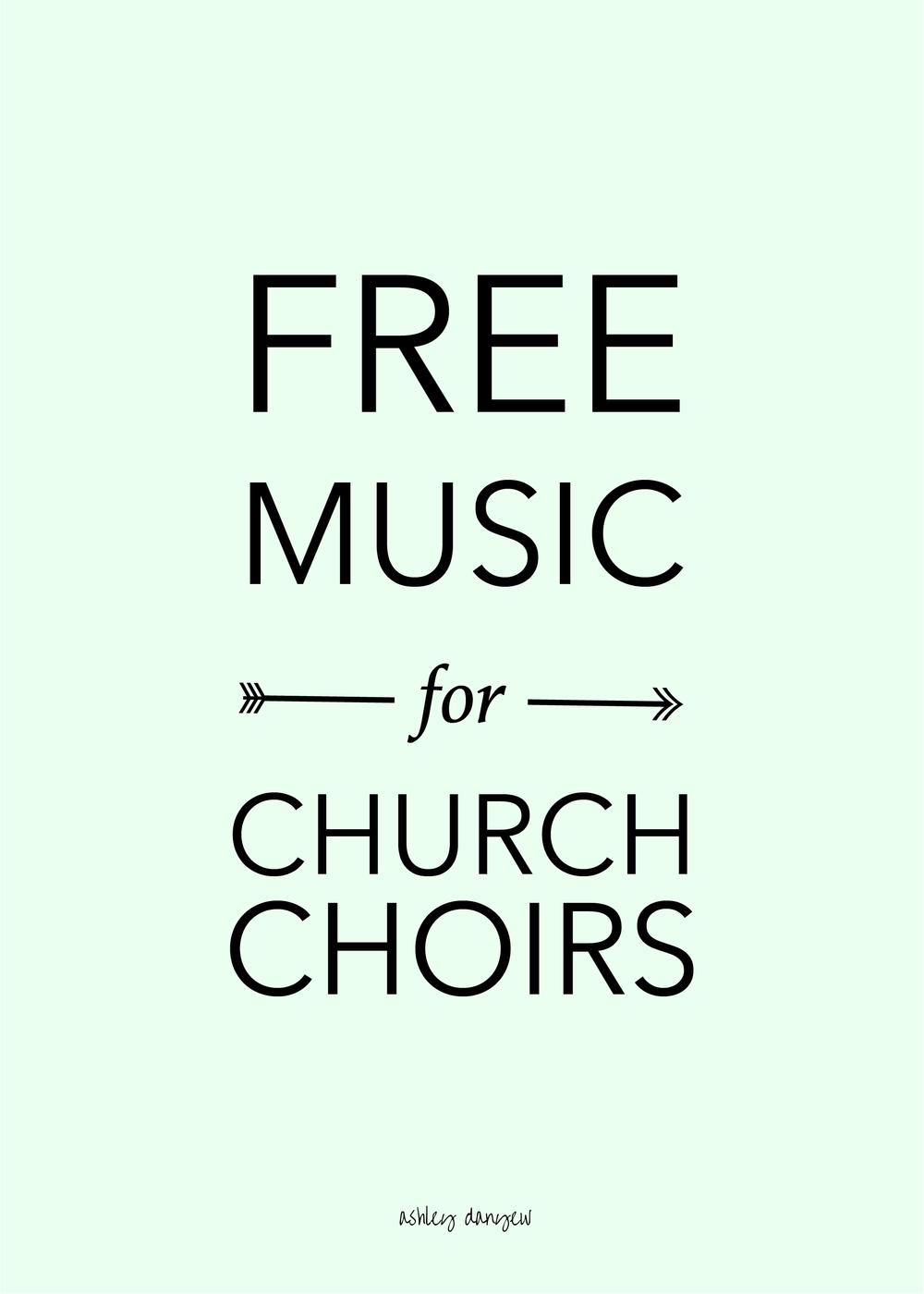 Free Music for Church Choirs