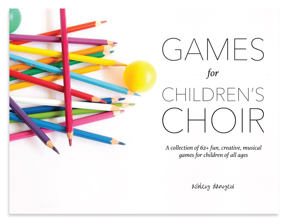 I'm looking for - Fun, musical games formy children's choir(I heard there's aneBook?)