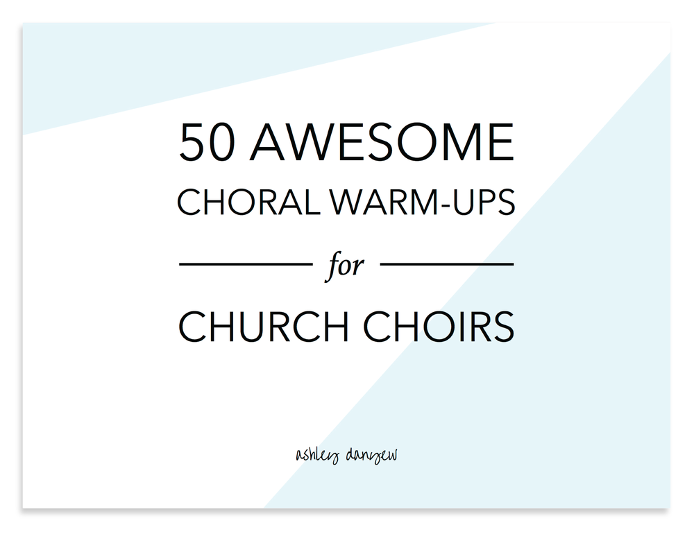I'm looking for - Fresh, new (fully-notated) vocal warm-up ideas for my choir