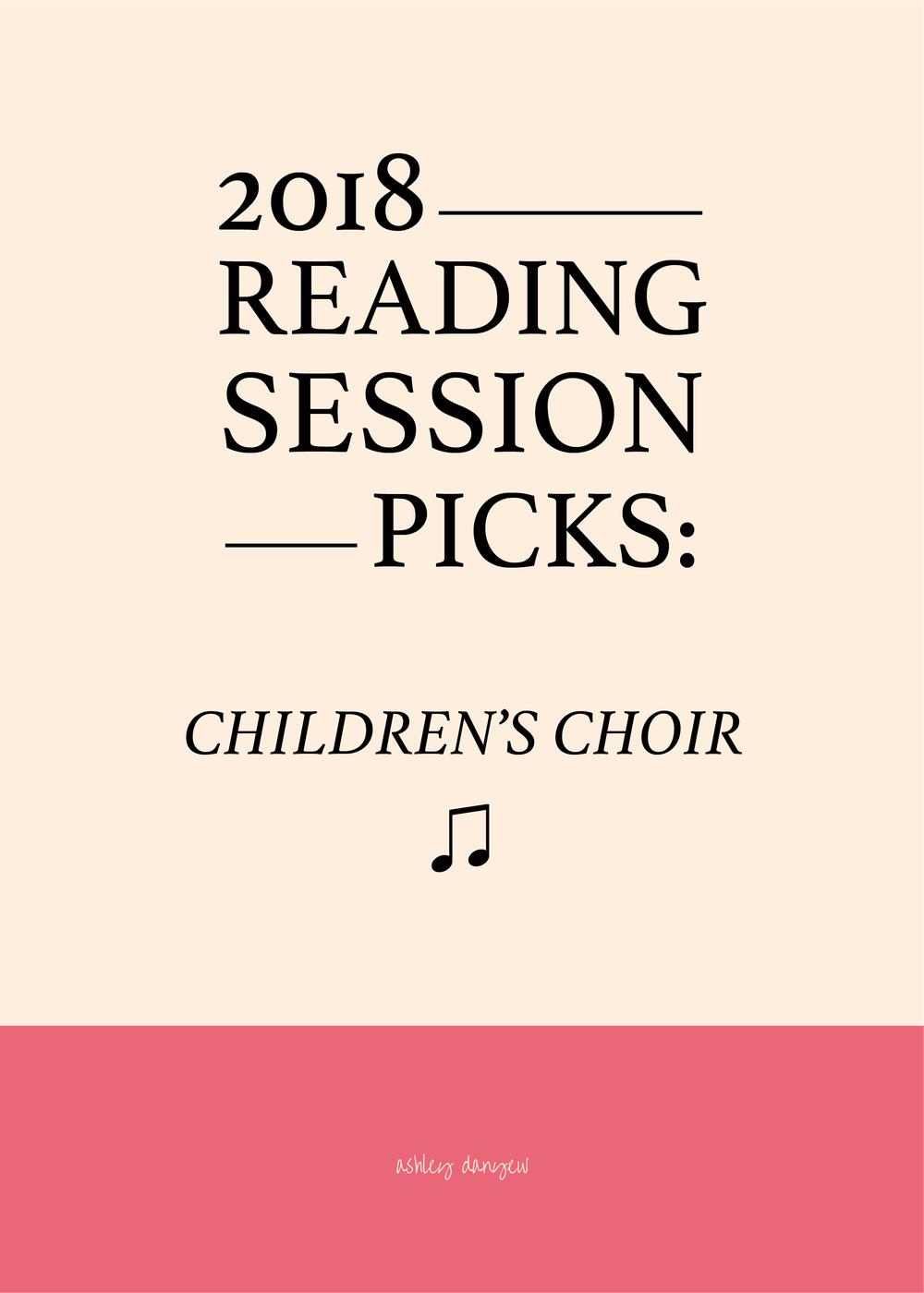 2018 Reading Session Picks: Children's Choir