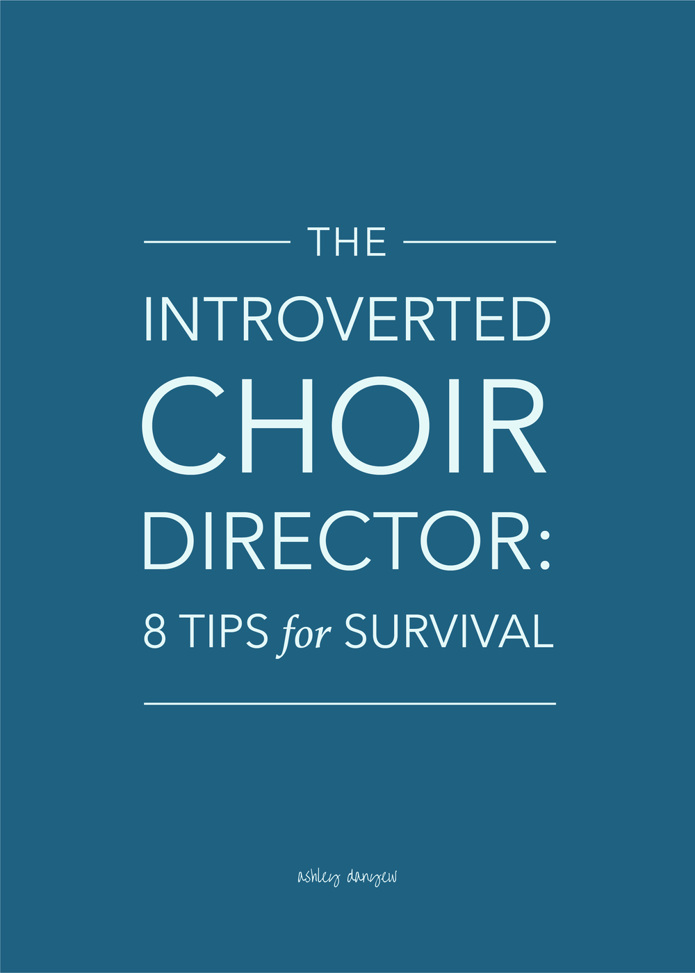 The Introverted Choir Director: 8 Tips for Survival