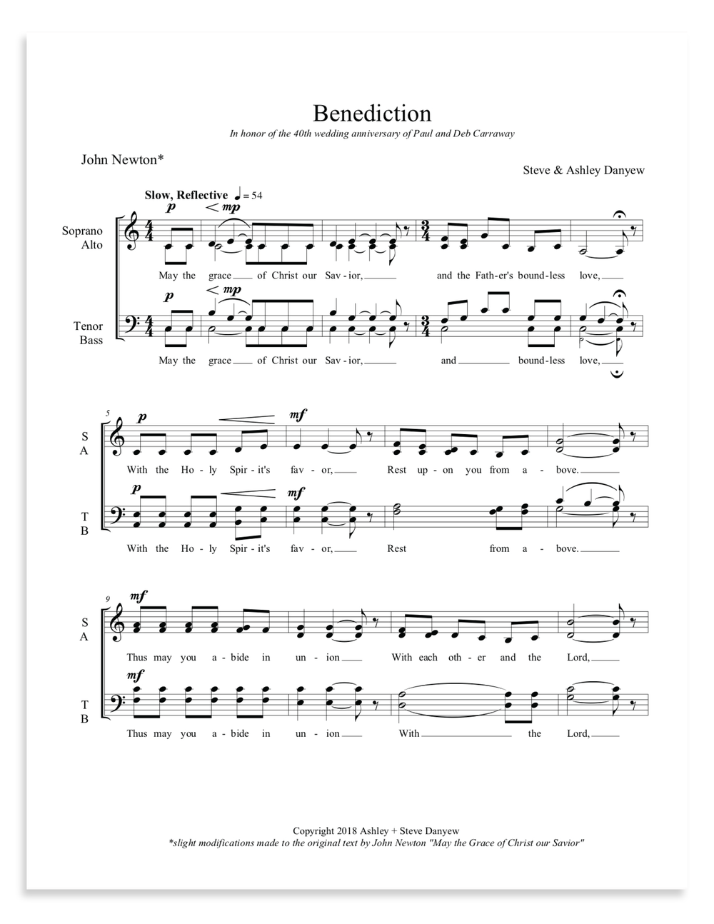 Benediction for SATB Choir, a cappella (Steve and Ashley Danyew).jpg