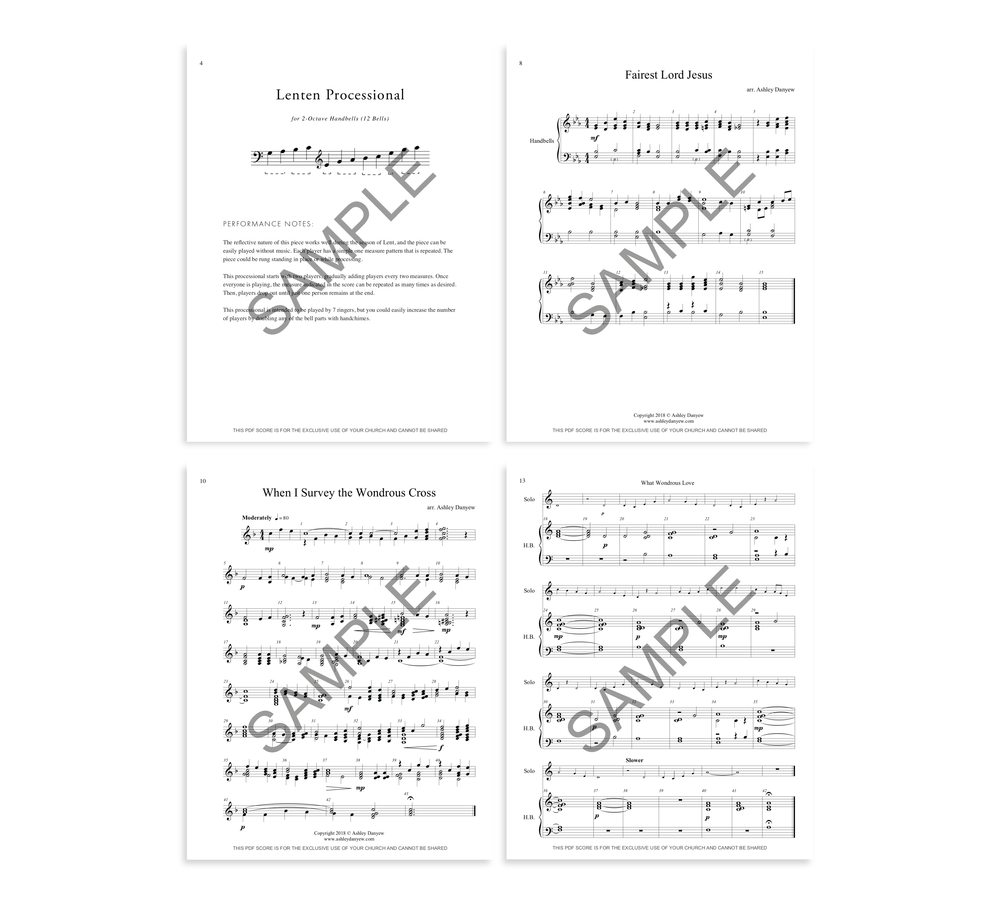 Four Pieces for Lent - a digital collection for 2-3 octave handbells (12-19 bells).png